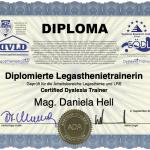 Mit Freude und Stolz: Ich bin Diplomierte Legasthenietrainerin EÖDL!